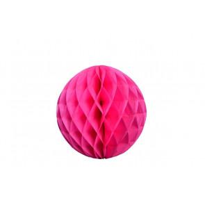 Dekoratívna Papierová guľa Honeycomb 30cm fuchsia