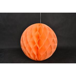 Dekoratívna Papierová guľa Honeycomb 30cm oranžová