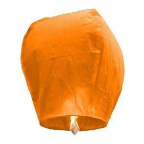 Oranžový Lietajúci lampión ECO