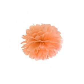 1ks Papierový Pompón - svetlý oranžový