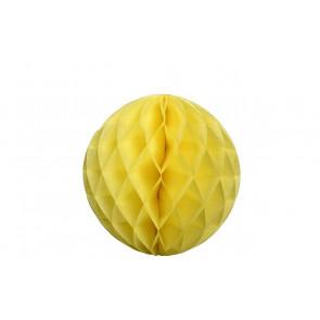 Dekoratívna Papierová guľa Honeycomb 30cm žltá
